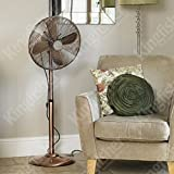 Best King Electric Tower Fans - Kingfisher Limitless Pedestal Fan, 16-Inch, Copper Review