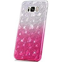 065904a721d JAWSEU Funda Compatible con Samsung Galaxy S8 Brillante Brillo Suave  Silicona Gel TPU Transparente Funda con