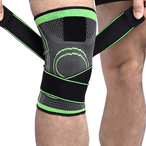 2 x Kniebandage für Damen & Männer | Zum Schutz von Meniskus & Knie | Elastische atmungsaktiv Knieschoner mit Kompression für mehr Stabilität beim Sport und im Alltag | Knieschützer