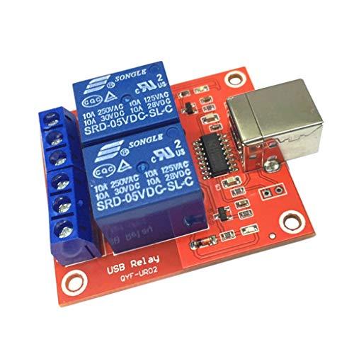 Homyl 2-Kanal-USB-Relais-Modul, programmierbar, Computersteuerung für Smart Home