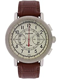 Gigandet Red Baron IV Montre Homme Chronographe Analogique Quartz Marron Beige G19-001