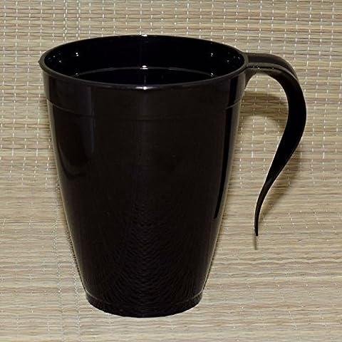 Plastique jetables Tasses à thé et à café/mugs avec poignée 226,8gram/227ml Bon pour fête X10Lot noir