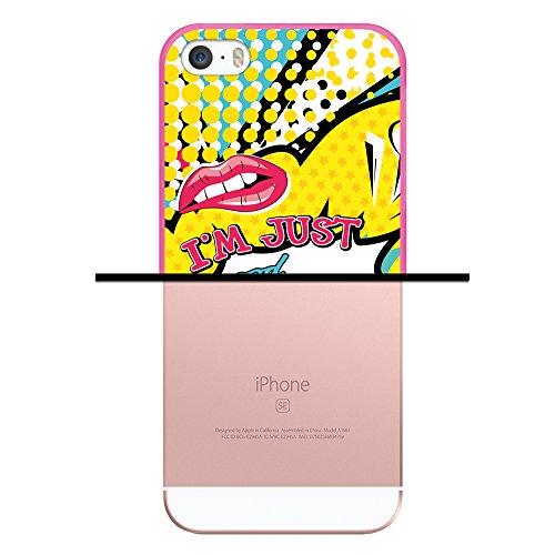 iPhone SE iPhone 5 5S Hülle, WoowCase Handyhülle Silikon für [ iPhone SE iPhone 5 5S ] Hund Fußabdruck Handytasche Handy Cover Case Schutzhülle Flexible TPU - Transparent Housse Gel iPhone SE iPhone 5 5S Rosa D0455
