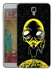 """Humor Gang Alien Says Peace - Yellow Printed Designer Mobile Back Cover For """"Samsung Galaxy Note 3"""" (3D, Matte Finish, Premium Quality, Protective Snap On Slim Hard Phone Case, Multi Color)"""