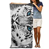 ewtretr Bath Towel Black and White Snow Leopard Cheetah Patterned Soft Beach Towel 31