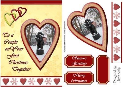 Una coppia con amore a Natale (oro)-A5by
