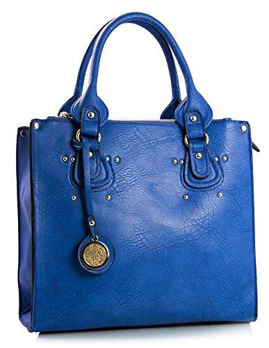 Big Handbag Shop, Borsa a mano donna One Royal Blue (NL192)