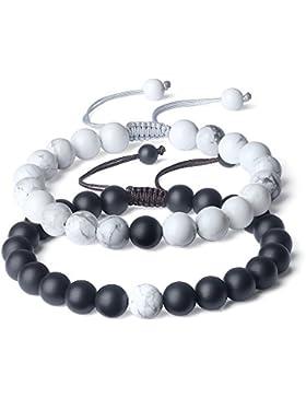 COAI® Geschenkidee Ein Paar Partner Armbänder aus Edelsteine für Damen und Herren