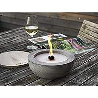 Beske-Betonfeuer mit 'Dauerdocht'   Ø 24cm mit großer Brennkammer   Wiederbefüllbare Gartenfackel   'Unendliche' Brenndauer durch umweltfreundliches Recycling von Kerzenwachs