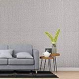 KINLO Selbstklebend Tapete wasserfest aus hochwertigem PVC Wandtapete Dekofolie 0.61 * 5M Hellgrau Sackleinen Stil Wandaufkleber Klebefolie Möbelaufkleber für Wohnzimmer TV Wand