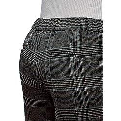 oodji Ultra Mujer Pantalones Ajustados con Cintura Elástica, Gris, ES 40 / M