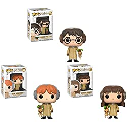 Funko Pop! Harry Potter: Harry Potter + Herminone Granger + Ron Weasley en clase de herbología