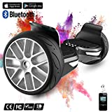 COLORWAY 8,5 Zoll Hoverboard SUV Elektro Scooter Smart Scooter mit Bluetooth & App Funktion Self Balance Board All Terrain Off Road Reifen EU Sicherheitsstandards