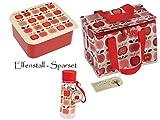 Elfenstall Brotdose und Trinkflasche Set | Lunchbox & Lunch-Tasche für Kinder & Erwachsene | Frühstückstasche für Brotzeit in Kindergarten, Schule, Büro & Picknick | BPA Frei