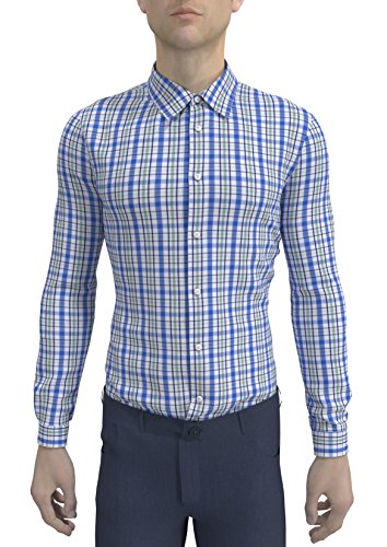 HeSpoke Originals Men's Checkered Slim Fit Cotton Formal Shirt