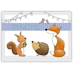 """10 Einladungskarten zum Kindergeburtstag """"Waldtiere"""" A6 / Einladung für Kinder / Einladung Waldtiere"""