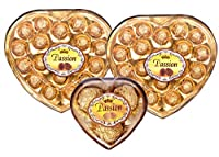Combo of 2 Passion Heart Valentines Special Chocolate Boxes, 225g Each+1 Free Heart Chocolate Box, 38g (Imported)