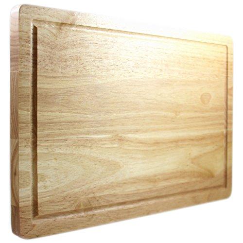 Tabla de Cortar de Chef Remi – Garantía de por Vida – La Tabla de Corte de Madera Mejor Valorada – Grande 40x25 Cm. Útiles de Cocina – Mas Fuerte que los Utensilios de Plástico o los de Bambú – Recomendada por Carniceros