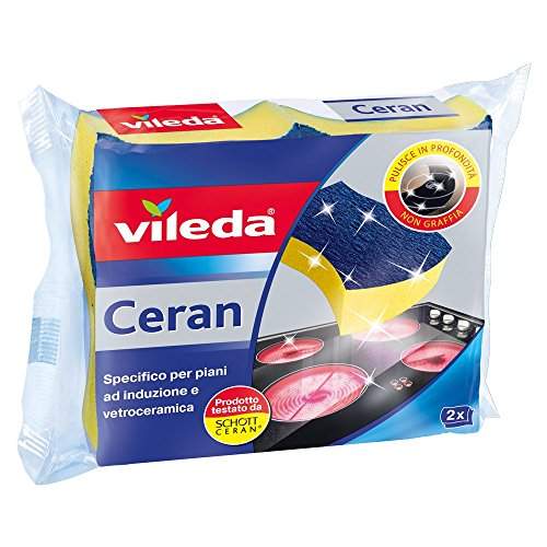 Price comparison product image Vileda 153104 Plans Sponge for Glass-Ceramic Induction and Vitroceramic, 2 Pieces