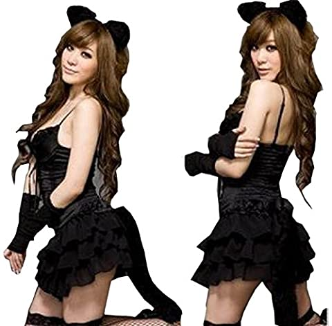 Cat Femme Costumes Sexy - Nihiug Halloween Costume Nightclub Kitten Femme Sexy