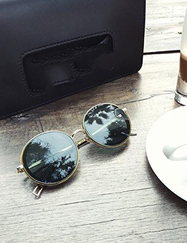 Unbekannt Süßigkeiten Sonnenbrille Weibliche Retro Runde Sonnenbrille Persönlichkeit trendy Gläser (Farbe : 2)