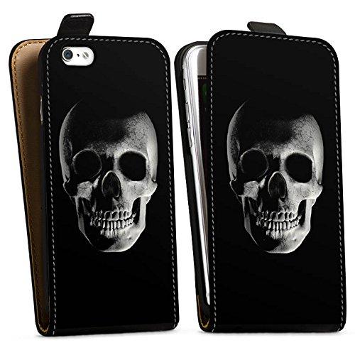 Apple iPhone X Silikon Hülle Case Schutzhülle Schädel Piraten Röntgen Downflip Tasche schwarz