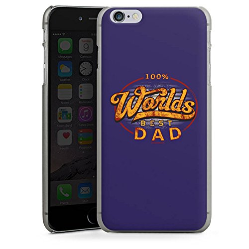 Apple iPhone X Silikon Hülle Case Schutzhülle Worlds Best Dad Bester Vater Hard Case anthrazit-klar