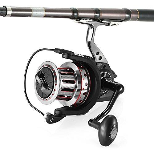 Lixada 11 + 1BB Rodamientos de Bolas de Spinning Carrete de Pesca 4.7:1 Izquierda/Derecha Intercambiable Asa Plegable