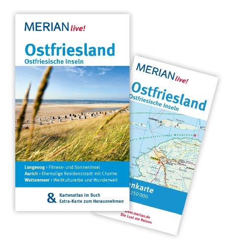 Image of MERIAN live! Reiseführer Ostfriesland  Ostfriesische Inseln: MERIAN live! - Mit Kartenatlas im Buch und Extra-Karte zum Herausnehmen