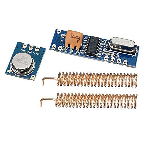 LaDicha 3 Sets 433 Mhz 100 Mt Drahtlose Fernbedienung Transceiver Modul Kit 3 Stücke Fragen Sender Stx882 + 3 Stücke Ask Empfänger Srx882 + 6 Stücke Kupfer Frühling Antenne (Zip Mw 3)