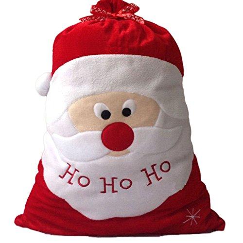 Demiawaking, sacchetto natalizio grande, porta regali, con immagine di babbo natale, personalizzabile