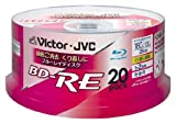 Victor JVC 25GB 2x Speed 20 Pack Spindle Rewritable Pritable Blu-ray (Japan Import)