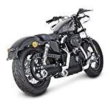 Auspuff Schalldämpfer Miller Custombike für Harley Davidson Sportster 883 Superlow (XL 883 L) 11-13 Edelstahl schwarz