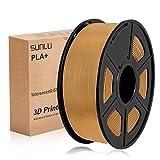 Filamento PLA Plus della stampante 3D di SUNLU, filamento PLA da 1,75 mm, filamento di stampa 3D a basso odore, precisione dimensionale +/- 0,02 mm, 2,2 LBS (1 kg) Filamento a spirale 3D, caffè PLA +