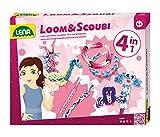 Lena 42218 - Loom und Silicon Scoubidou, 4 in 1 Set
