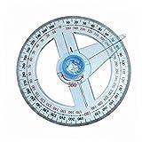 GEZICHTA Rapporteur 360° Plastique Rond Règle Jauge Angulaire pour l'école Fournitures de Bureau
