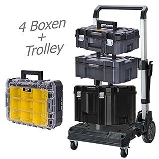 STANLEY FATMAX TSTAK Box II + Box III + Box V + Box VI plus Trolly