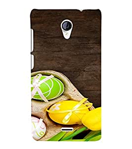 PrintVisa Easter Egg Festival 3D Hard Polycarbonate Designer Back Case Cover for Micromax Unite 2 A106