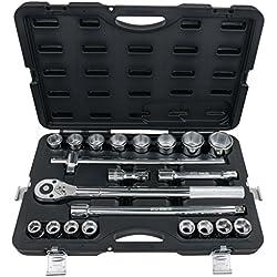 """KS Tools 911.0721 3/4"""" Steckschlüssel-Satz, 21-tlg. 6-kant"""