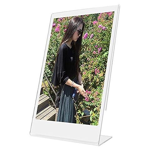 Woodmin L Instax Mini Foto Rahmen Transparent Mini Stand für 4x6 Zoll Bild Zeichenhalter