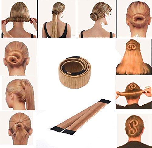 Covermason Damen Fashion DIY Haarstyling Tool Donut Hair Bun Maker & Fashion Haare Dutt Styling Werkzeug