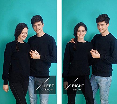 LaoZan Sweatshirt - Manche longue / Col ras du cou - Unisex Sweat-shirt Noir + hiver
