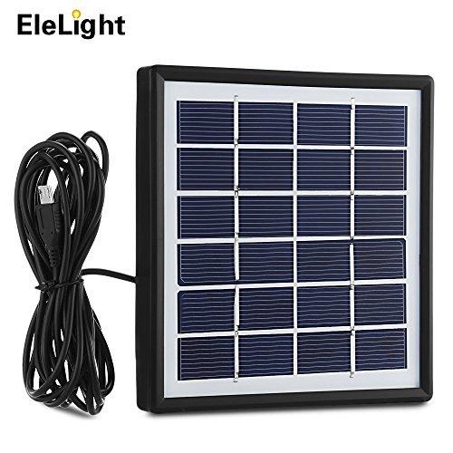 Elelight Solar Panel mit 3M Outlet-Kabel, LED-Glühbirne System Outdoor Solar Power Solar-Ladegerät für Smart-Gerät
