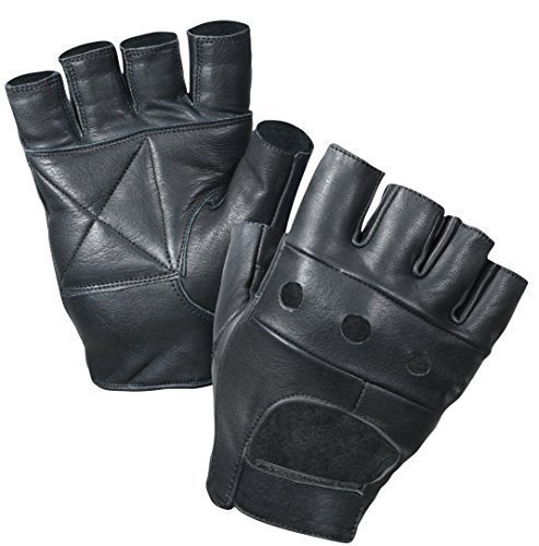 Fingerless Leather Cycle – Weight Lifting Gloves