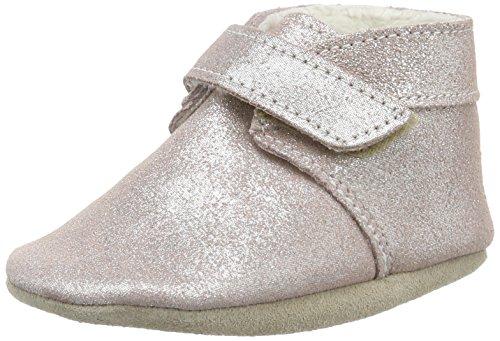 Robeez Pole Nord, Chaussures de Naissance Bébé Fille Rose (Rose Clair)