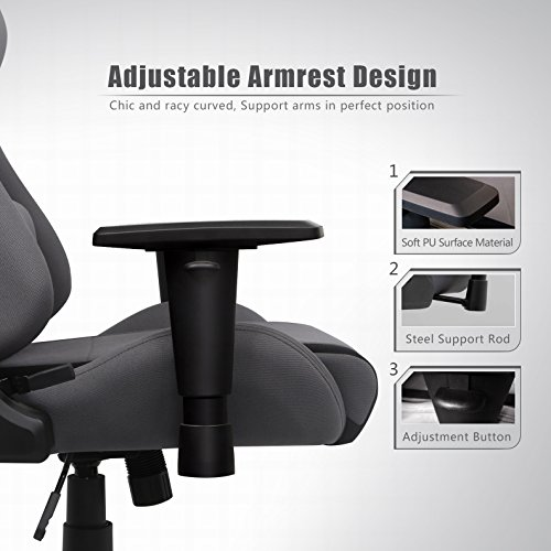 Stupendous Intimate Wm Heart Fabric Gaming Chair Grey Racing Office Machost Co Dining Chair Design Ideas Machostcouk