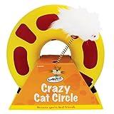 Katzenspielzeug Crazy Cat Circle, Ring mit Maus auf Springfeder, 23cm Durchmesser, 29cm Höhe
