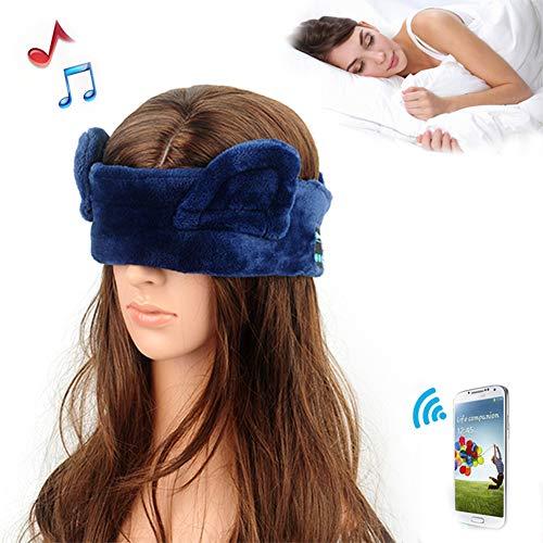 Z&HA Novedad Sueño Máscara De Ojo Auriculares Auriculares con Banda De Música Auriculares Inalámbricos Bluetooth Estéreo De Terciopelo Suave Relajarse Y Proteger Los Ojos