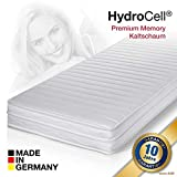 HydroCell 7 Zonen Memoryelastische Wellness Komfort Plus Marken Kaltschaum Matratze, Beidseitig nutzbar, Klimafaserbezug, 7 Zonen und Größe wählbar (100 x 200 cm, H2)
