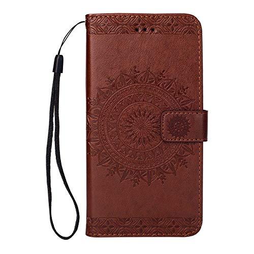 acc0b205556 DENDICO Custodia iPhone 7 Plus / 8 Plus Portafoglio Flip Pelle Cover ...